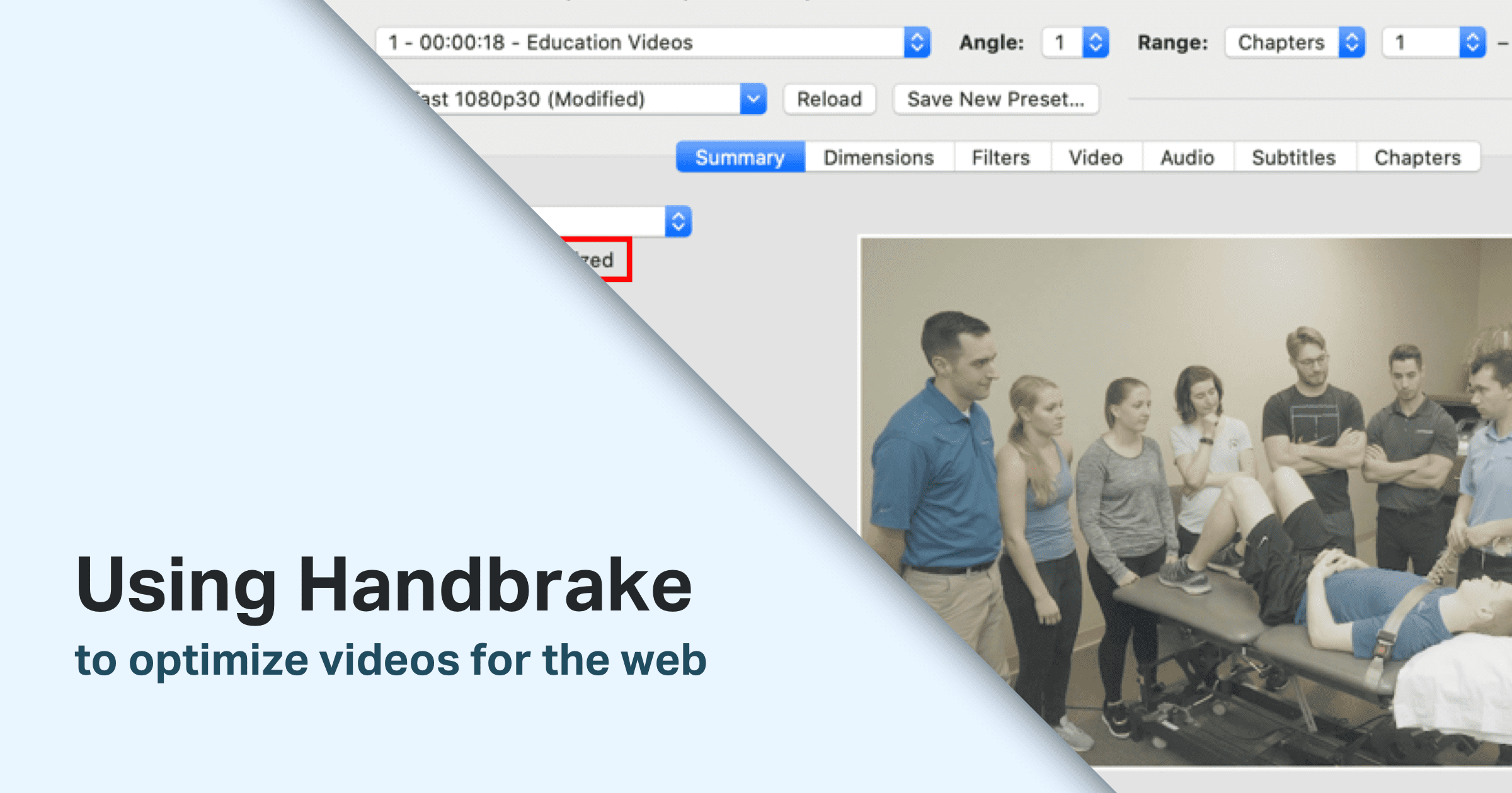 Using HandBrake to optimize videos for the web
